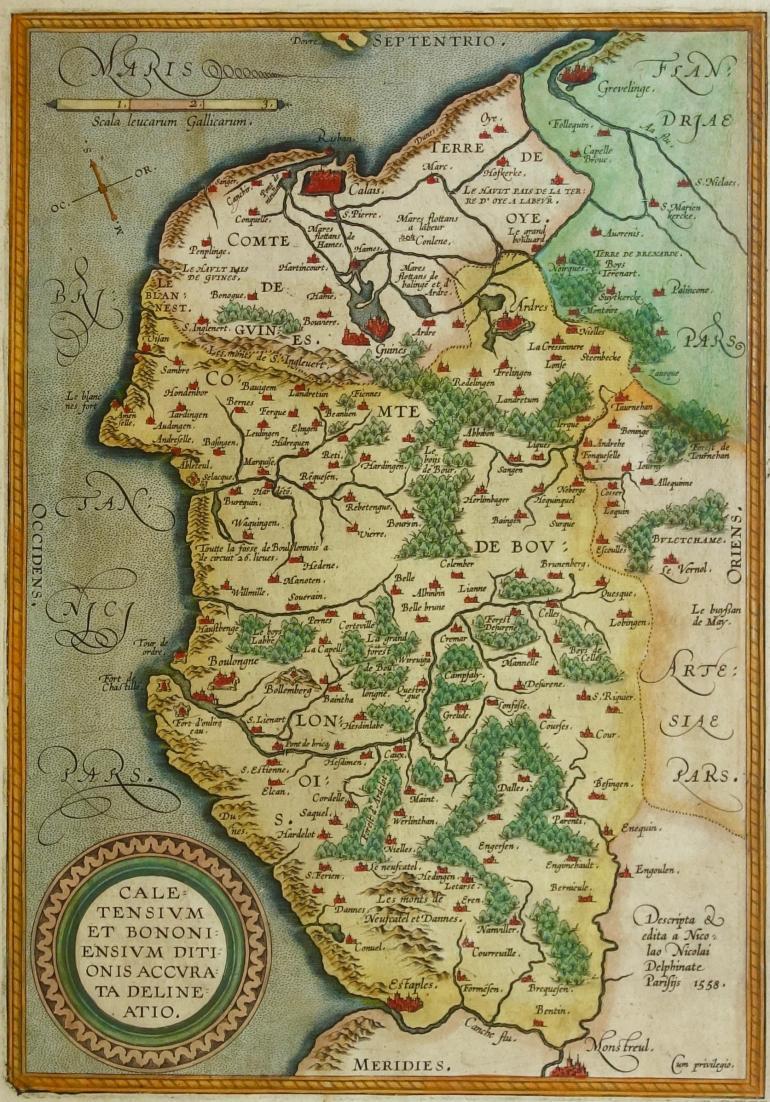 DE NICOLAY Nicolas, Cartographe